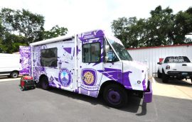 Orlando City Soccer Promotional Marketing Van Bus